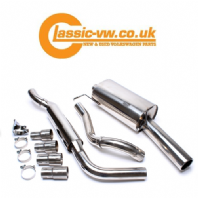 Mk1 Golf Cabriolet & Scirocco Stainless Steel Exhaust System, Rolled Tip